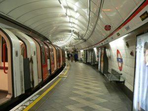 Empty London Underground platform